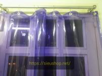 Rèm Nhựa Trong Suốt PVC Màu 1,2m x2m